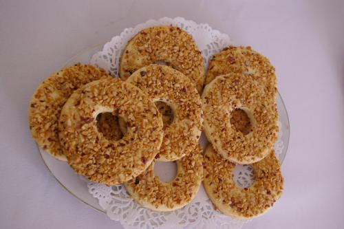 Песочное пирожное с орехами Кольцо, рецепт