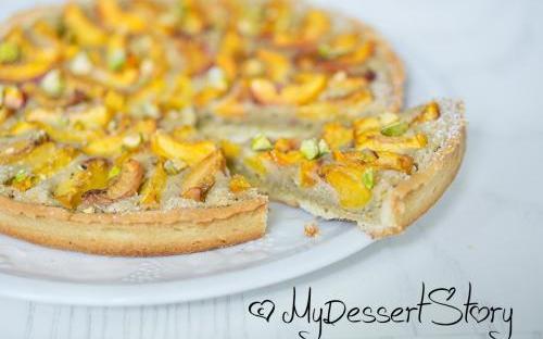 MyDessertStory, торты на заказ, Фисташково-абрикосовый тарт