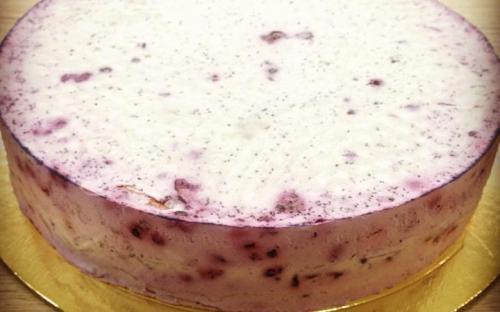 Торт блинный, чернично-йогуртовое суфле, Домашняя кондитерская Зефир, Обнинск
