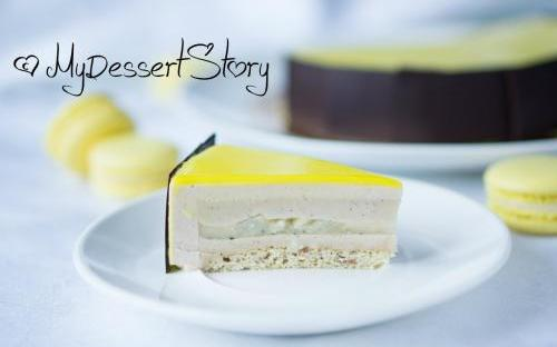 MyDessertStory, торты на заказ, Торт Mont Blanc (Груша-каштан)