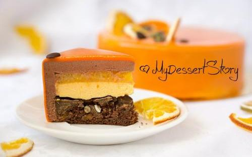 MyDessertStory, торты на заказ, Торт Осень (шоколад-тыква-мандарин)