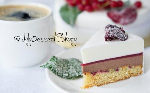 MyDessertStory, торты на заказ, Торт Малина-Анис