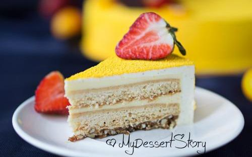 MyDessertStory, торты на заказ, Торт Медовик (1) (Мед-миндаль-ваниль)