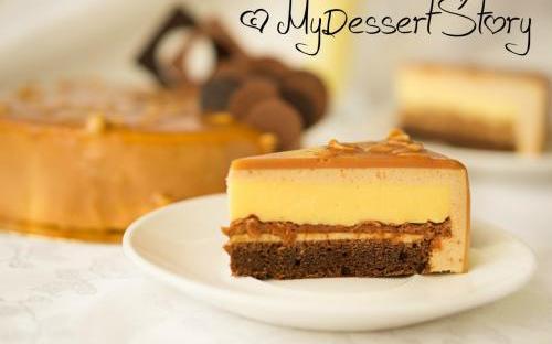 MyDessertStory, торты на заказ, Торт Эмоция (Арахис-лимон-пралине)
