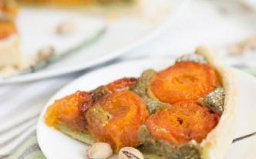 MyDessertStory, торты на заказ, Тарт с абрикосами