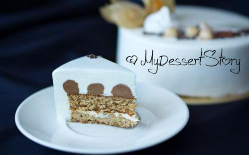 MyDessertStory, торты на заказ, Торт Nikaia (Миндаль-фундук-апельсин)