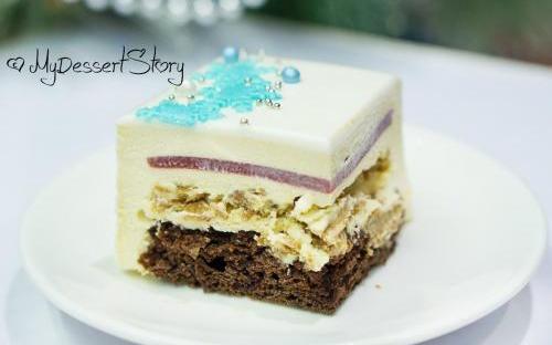 MyDessertStory, торты на заказ, Торт Карамель и Клубника. Карамелизванный шоколад и клубника