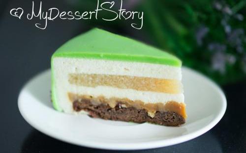 MyDessertStory, торты на заказ, Торт Эдем. Яблоки, соленая карамель и ваниль