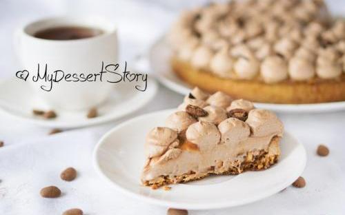 MyDessertStory, торты на заказ, Тарт Milky Way (Кофе-карамель-молочный шоколад)
