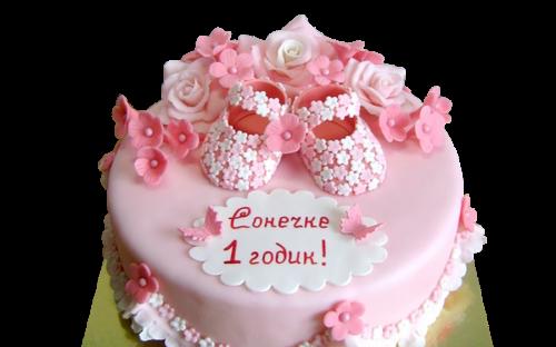 На 1 год для девочки. DolceVita, кондитерская, Дмитров, торты на заказ