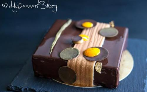 MyDessertStory, торты на заказ, Торт Chocolat Saveur des Iles (шоколад-фундук-экзотика)