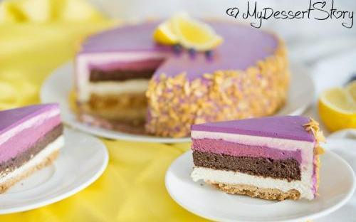 MyDessertStory, торты на заказ, Торт Лимон-черная смородина