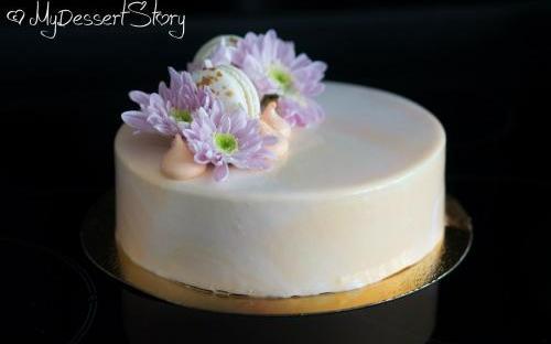 MyDessertStory, торты на заказ, Passionfruit & Mango Entremet (Манго-маракуйя: бисквит, манго мусс, маракуйя мусс, мусс со сливочным сыром)