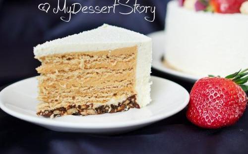 MyDessertStory, торты на заказ, Медовик (2) (Мед-красные апельсины-ваниль)