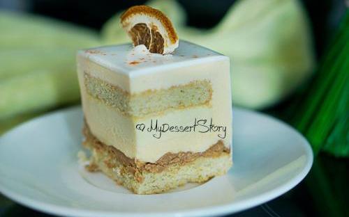 MyDessertStory, торты на заказ, Торт Мандарино. Мандарин и пралине