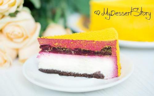 MyDessertStory, торты на заказ, Торт Вишня-Чизкейк-Шоколад