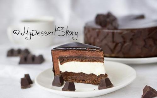 MyDessertStory, торты на заказ, Торт Тео (Шоколад-ваниль)