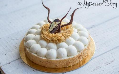 MyDessertStory, торты на заказ, Торт Coconuts (кокосовый)