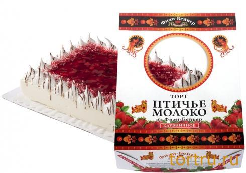 """Торт """"Птичье молоко Клубничное"""", Фили Бейкер, Москва"""