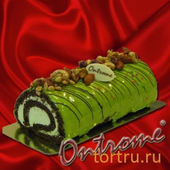 """Торт """"Онтроме Рулет Фисташковый"""", Онтроме, кафе-кондитерская, Санкт-Петербург"""