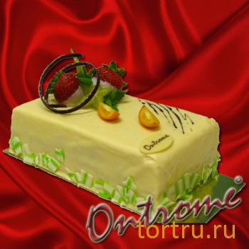 """Торт """"Двойной фруктовый"""", Онтроме, кафе-кондитерская, Санкт-Петербург"""