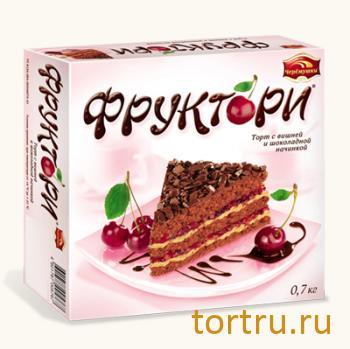 """Торт """"Фруктори - Вишня в черном"""", Черемушки"""