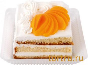 """Торт """"Йогуртовый"""" персик, Лента"""