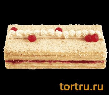 """Торт """"Наполеон с малиной"""", Венский Цех фабрики Большевик, Москва"""