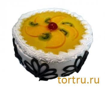 """Торт """"Йогуртовый с фруктами"""", ТВА, кондитерская фабрика, Москва"""