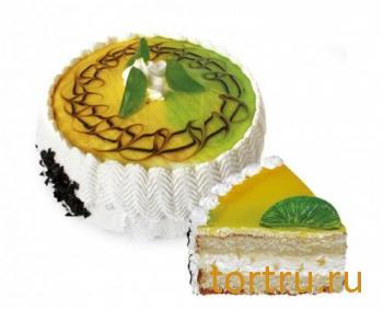 """Торт """"Сырно-творожный с лимоном"""", Хлебозавод Восход Новосибирск"""