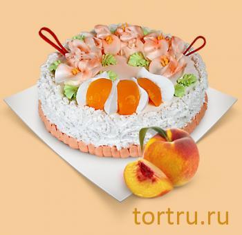 """Торт """"Йогуртовый персиковый"""", Шереметьевские торты, Москва"""