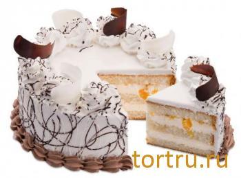 """Торт """"Йогуртовый с персиком"""", фирма Татьяна, Воронеж"""