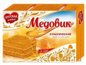 """Торт """"Медовик"""" классический, Русская Нива"""