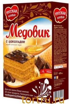 """Торт """"Медовик"""" с шоколадом, Русская Нива"""