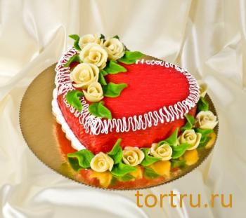 """Торт """"Марципан сердце"""", французская кондитерская Шантимэль, Москва"""