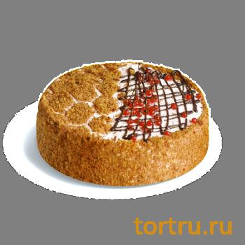 """Торт """"Медово-клюквенный"""", кондитерская фабрика Сластёна, Чебоксары"""