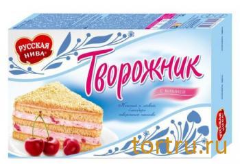 """Торт """"Творожник"""" с вишней, Русская Нива"""