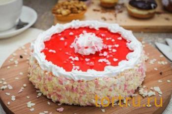 """Торт """"Клубнично-творожный"""", кондитерская Ваниль"""